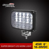 """4""""X6"""" 45W Motorcycle LED Headlight with Convex Lens"""