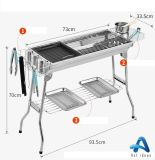 Triangle Shape Foldable Mini BBQ Grill Smoker Barbeque Grill
