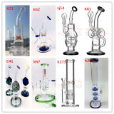 Newest Hbking Glass Smoking Pipe Recycler Matrix Batterl Glass Hookah Oil Rigs Glass Water Pipe