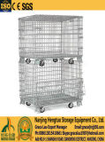 Warehouse Stackable Wire Mesh Roll Container with Heavy Duty