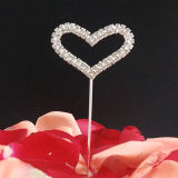Rhinestone Heart Wedding Cake Topper Cupcake Topper Decoration