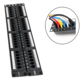 24 Port Cat 5e / CAT6 Unshielded Patch Panel Fluke Test UTP with Back Bar