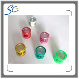 Free Sample Aluminum with Plastic Pigeon Rings with Different Colors