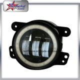"""4"""" Round Fog Light for Jeep Wrangler Jk, 4 Inch 30W Car LED DRL Fog Light with Halo Ring for Toyota Cars Motorcycle Truck"""