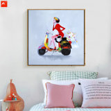Handmade Oil Painting of Abstract Fashion Lady
