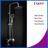 Brass Chrome Plated 8 Inch Shower Head Exposed Shower Set