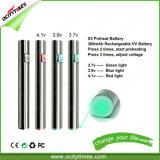OcitytimesUSB Passthrough E-Cigarette Battery S3 Vape Pen EGO Battery
