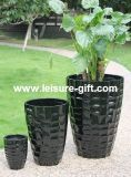 Fo-311 Lacquered Indoor &Outdoor Garden Fibreglass Plant Pot