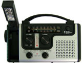 Emergency Solar Hand Crank Dynamo Am/FM/Noaa Weather Radio, Flashlight, Reading