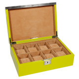 Luxury Yellow Wooden Watch Box
