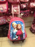 Polyester Lovely Cartoon Detachable Kids Trolley School Book Backpack Bag