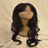 Black Remy Chinese Human Hair Wig Long Curly Virgin Human Hair Wig