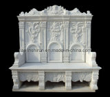 White Marble Carving Bench (1207)