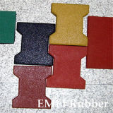 Soft Surface Dogbone Rubber Flooring Tiles
