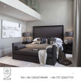 2016 New Design Hotel Bedroom Furniture Upholstered with Fabric