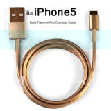 Gold 8 Pin USB Charger Charging Sync Data Cable Cord for iPhone 5s 5c 5
