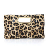 Designer Brand Leopard Fashion Lady Leather Clutch Bag (MBNO036108)