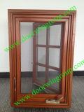 USA Most Popular Wood Aluminum Casement Window with Transom