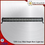 13.5inch 72W Single Row Auto LED Light Bar for Truck Offroad 4X4,