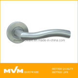 Stainless Steel Door Handle on Rose (S1106)