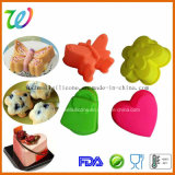 Set of 4 Different Shape Silicone Funny Mini Cupcake Liners