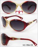 Women Fashion Sunglasses Plastic with Metal Decoration (WSP707958)