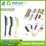 Economy Curved Handle Steel Wire Brush with Plastic or Wood Handle