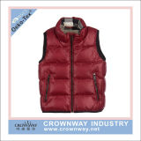 Wholesale Yarn Dye Checked Polyester Padded Winter Vest for Men