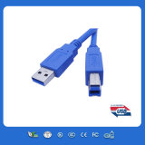 Blue USB 2.0 Printer Cable with Am to Bm