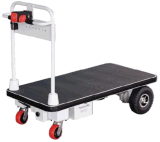 Powered Flatbed Trailer with Big Wheels for Transportation (HG-1030)