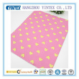 New Style Yellow Heart Printed Cotton Fabric for Bedding/Garment