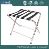 Minimalist Stainless Steel Luggage Stand for Bedroom