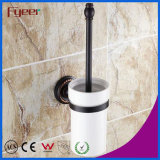 Fyeer Black Series Bathroom Fittings Brass Toilet Brush Holder