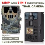 12MP HD 1080P WiFi Function 8 in 1 Hunting Camera No Glow Long Detection Range up to 85TF