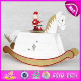 2015 New Item Hand Crank Music Box, Best Wooden Kid Horse Music Box, Music Instrument Carousel, Plating Carousel Music Box W07b019c
