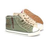 Kid′s Rivet Canvas Shoes High-Top Sneaker Shoes