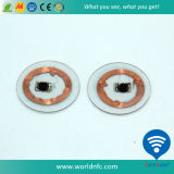 PVC 13.56MHz RFID Coin Tag/Nfc Round Tag with Ntag203 Chip