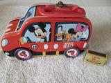 Car Shape Handle Tin Box with Printing Custom Artwork