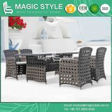 Rattan Chair with Opening Weaving Outdoor Dining Set Synthetic Wicker Chair (Magic Style)