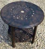 Useful Cast Aluminum 24'' Round Side Table Garden Furniture