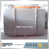 Chinese G687 Peach Pink Gangsaw Granite Slab and Tile