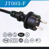 VDE Approved Power Cord with Ice13 Plug Extension Cord (JT003-F)
