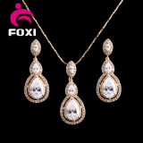 Promotion Price Fashion Jewelry Silver and Gold Jewelry Set