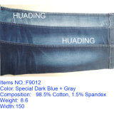 OEM Design Dark Blue Cotton Spandex Jeans Denim Fabric (F9012)