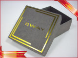 Black Paper Packing Promotion Box with Gold Logo