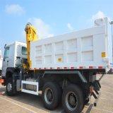 336HP 6X4 Cnhtc Tipper Sinotruk Dump Truck with Crane
