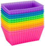 Factory Direct Rectangular Silicone Nonstick Baking Cups Cupcakes Mould