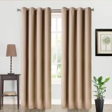 2 Panels Thermal Insulated Grommets Tan Drapes and Curtains for Bedroom Living Room 52 by 63 Inch Blackout Curtain
