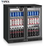 210L Back Bar Beer Cooler Back Bar Soft Drink Display Cooler with Glass Door