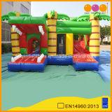 Popular Inflatable Crocodile Combo Fun City with Jump (AQ1324-10)